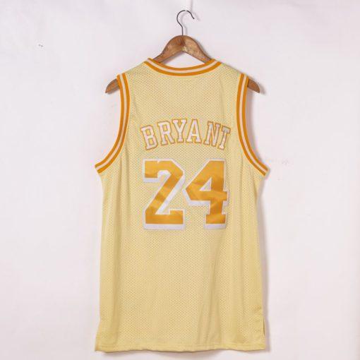 Kobe Bryant Los Angeles Lakers Hardwood Classics Golden Edition Jersey back