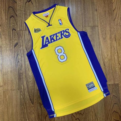 Kobe Bryant Los Angeles Lakers Home Finals 1999-00 Gold Jersey real 1