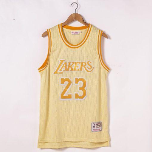 LeBron James Los Angeles Lakers Hardwood Classics Golden Edition Jersey