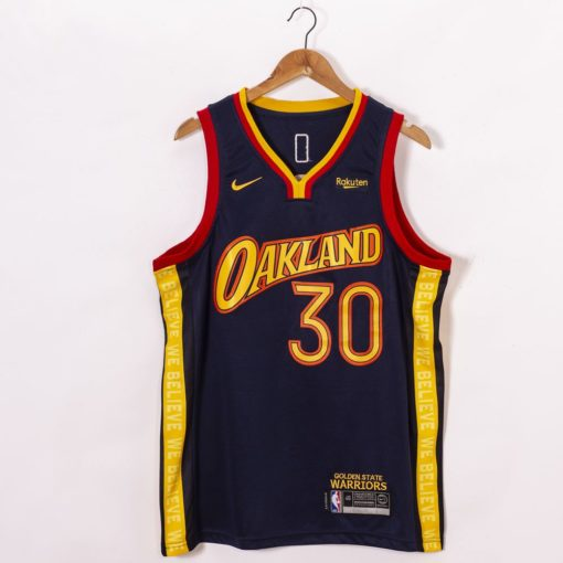 Stephen Curry Golden State Warriors Navy City Edition Oakland 2020-21 Jersey