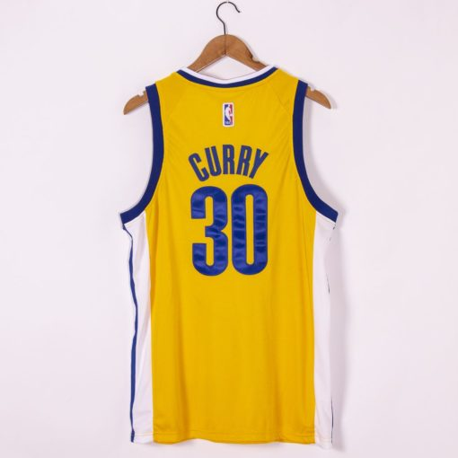 Stephen Curry Golden State Warriors Nike Finished Swingman Jersey Gold - Statement Edition back
