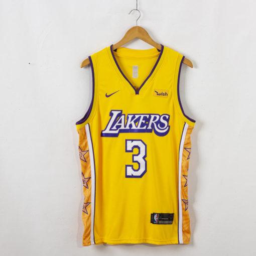Anthony Davis #3 Los Angeles Lakers 2019-20 City Edition Swingman Gold Jersey