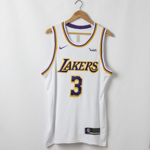 Anthony Davis Los Angeles Lakers Association Edition White Jersey back