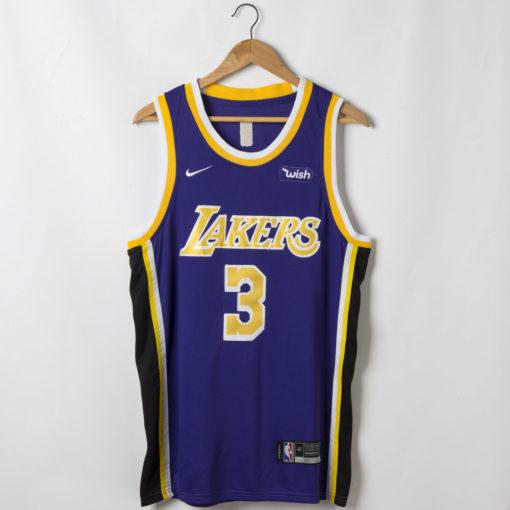 Anthony Davis Los Angeles Lakers Statement Swingman Purple Jersey