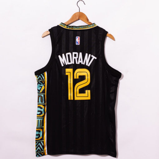 Ja Morant Black Memphis Grizzlies 202021 Swingman Jersey - City Edition back