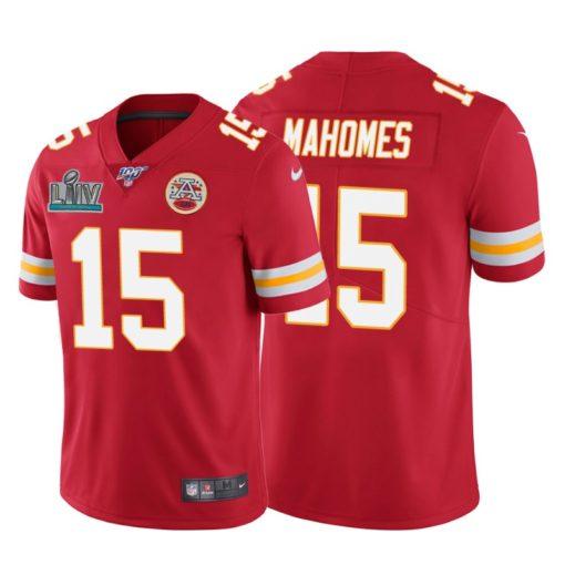 Kansas City Chiefs Patrick Mahomes Red Super Bowl LIV Vapor Limited Jersey