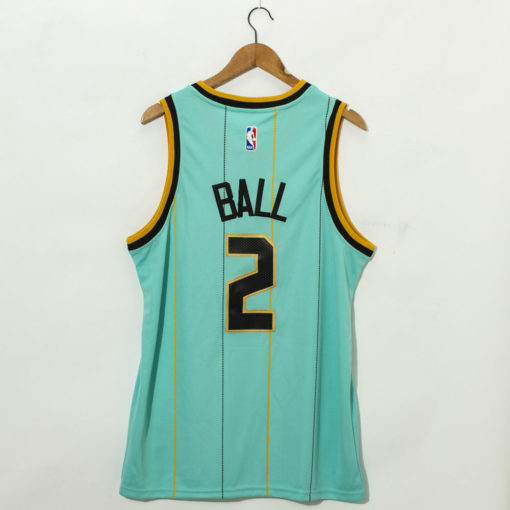 LaMelo Ball Charlotte Hornets Mint Green 202021 Swingman Jersey - City Edition back