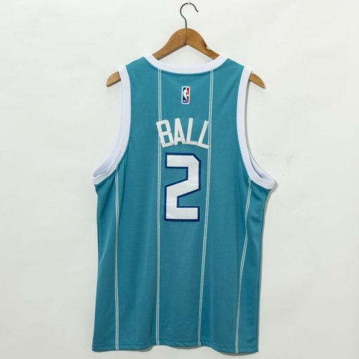 LaMelo Ball Teal Charlotte Hornets 2020 Fast Break Custom Jersey back