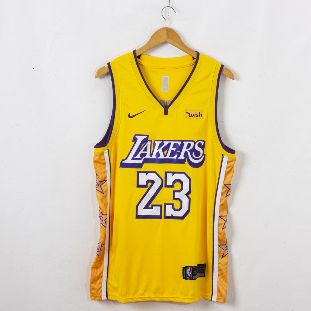 LeBron James #23 Los Angeles Lakers 2019-20 City Edition Gold Jersey