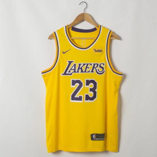 LeBron James Los Angeles Lakers 2019-20 Icon Swingman Gold Jersey
