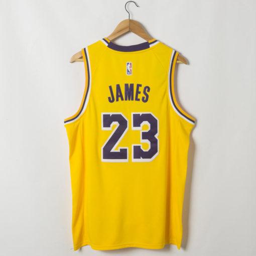 LeBron James Los Angeles Lakers 2019-20 Icon Swingman Gold Jersey back