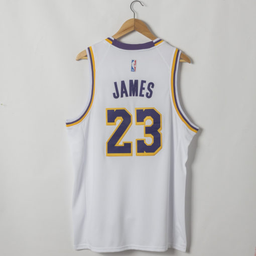 LeBron James Los Angeles Lakers Association Edition White Jersey back