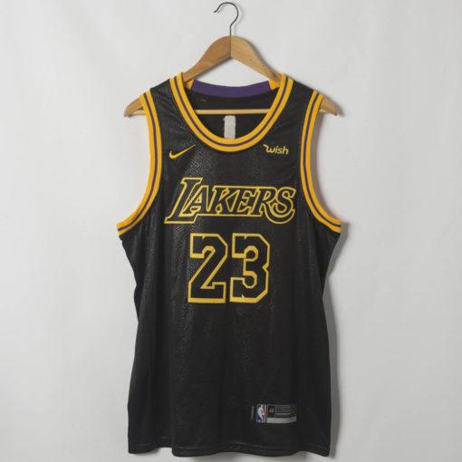 LeBron James Los Angeles Lakers Black Mamba Inspired City Jersey