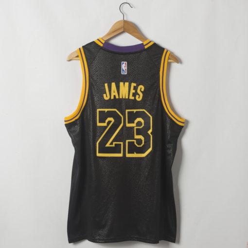 LeBron James Los Angeles Lakers Black Mamba Inspired City Jersey back