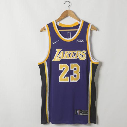 LeBron James Los Angeles Lakers Statement Swingman Purple Jersey