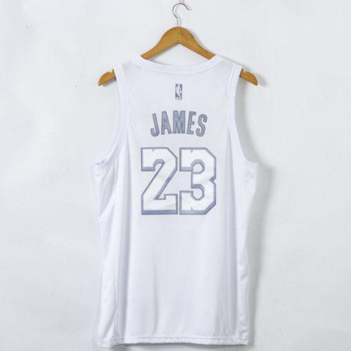 LeBron James Los Angeles Lakers White MVP #23 Jersey back