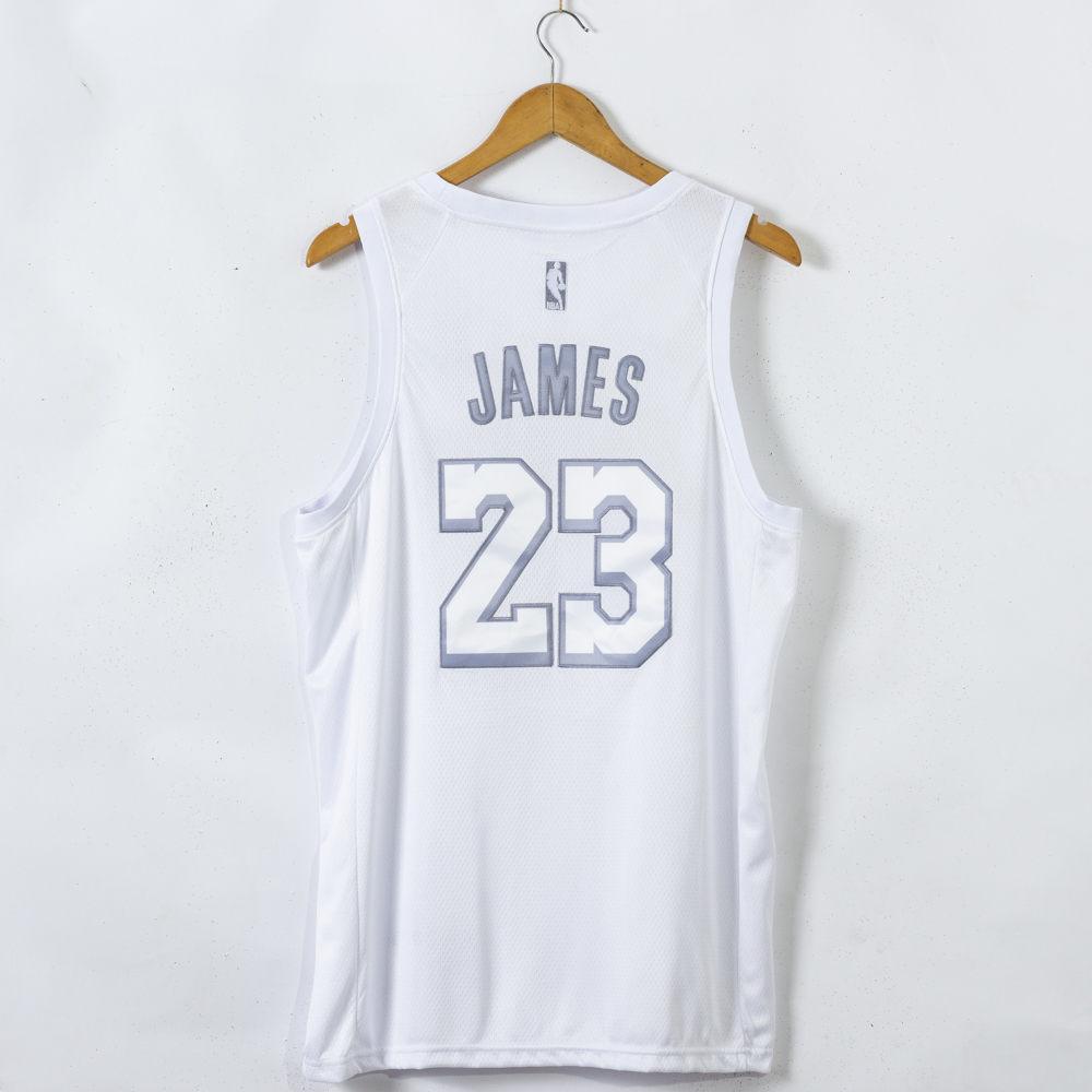 LeBron James #23 Los Angeles Lakers MVP White Jersey