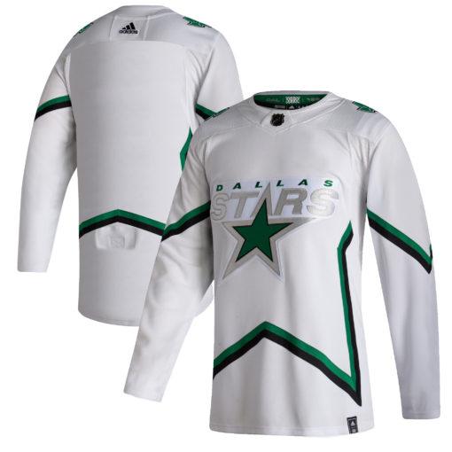 Men's Dallas Stars adidas White 202021 Reverse Retro Jersey