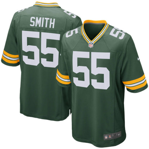 Men's Green Bay Packers Za'Darius Smith Nike Green Game Player Jersey
