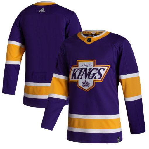 Men's Los Angeles Kings adidas Purple 202021 Reverse Retro Jersey