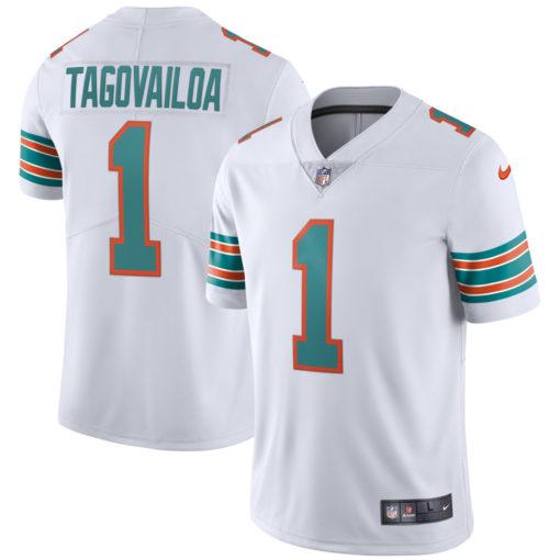 Men's Miami Dolphins Tua Tagovailoa Nike White 2nd Alternate Vapor Limited Jersey