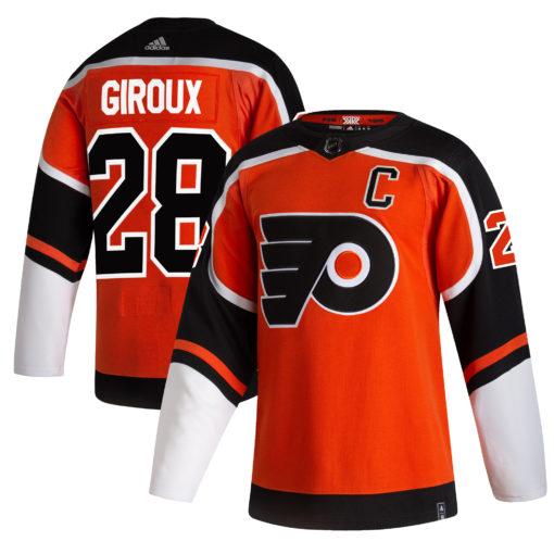 Men's Philadelphia Flyers Claude Giroux adidas Orange 202021 Reverse Retro Player Jersey