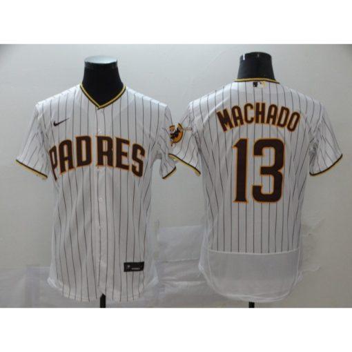 Men's San Diego Padres Manny Machado WhiteBrown Home 2020 Player Jersey