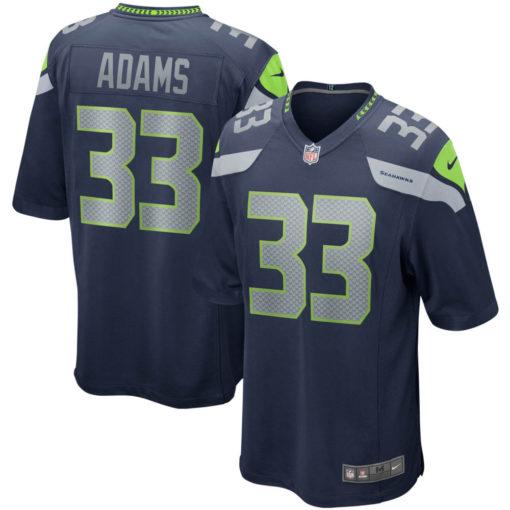 Men's Seattle Seahawks Jamal Adams Nike College Navy Game Jersey