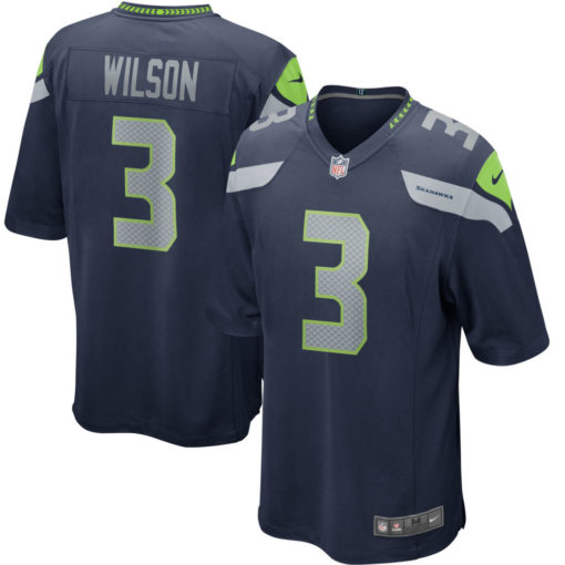 Men's Seattle Seahawks Russell Wilson Nike Navy Game Player Jersey