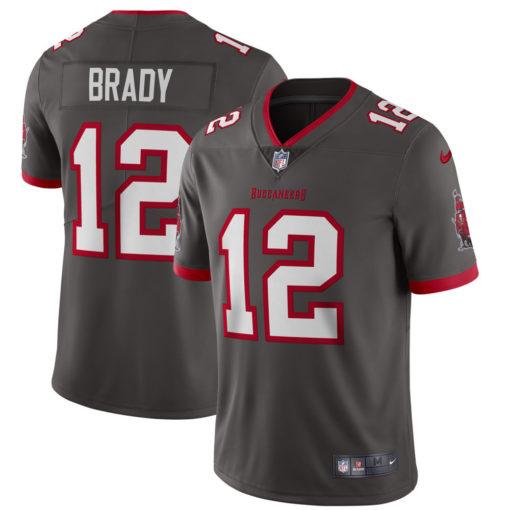 Men's Tampa Bay Buccaneers Tom Brady Nike Pewter Alternate Vapor Limited Jersey