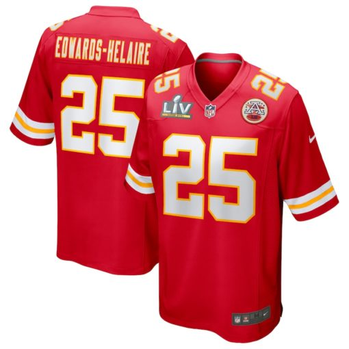 Clyde Edwards-Helaire Red Kansas City Chiefs Super Bowl LV Bound Game Jersey