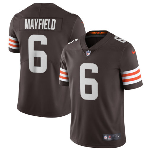 Men's Cleveland Browns Baker Mayfield Nike Brown Vapor Limited Player Jersey