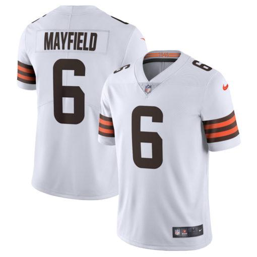 Men's Cleveland Browns Baker Mayfield Nike White Vapor Limited Jersey