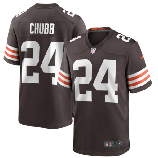 Men's Cleveland Browns Nick Chubb Nike Brown Game Player Jersey