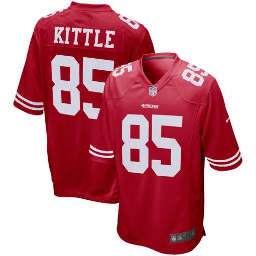 Men's San Francisco 49ers George Kittle Nike Scarlet Game Player Jersey