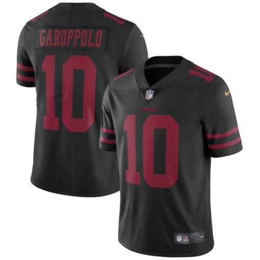 Men's San Francisco 49ers Jimmy Garoppolo Nike Black Vapor Untouchable Limited Jersey