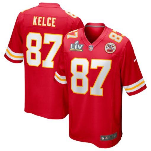 Travis Kelce Red Kansas City Chiefs Super Bowl LV Bound Game Jersey