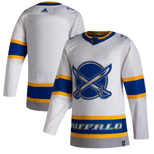 Men's Buffalo Sabres adidas White 202021 Reverse Retro Jersey