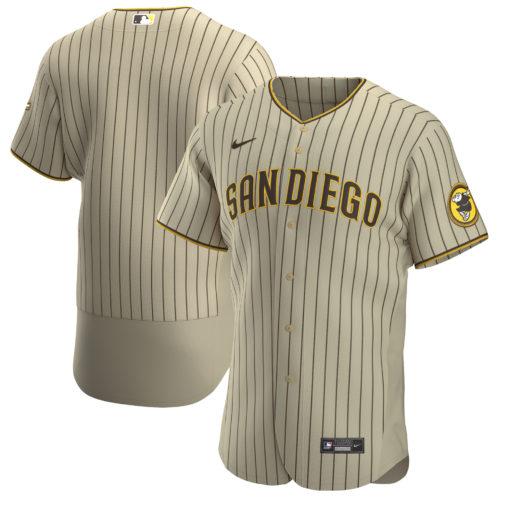 Men's San Diego Padres custom TanBrown Alternate Team Jersey