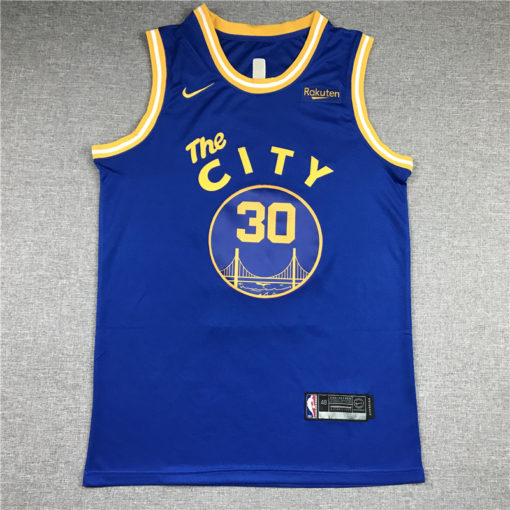 Stephen Curry #30 Golden State Warriors Blue Hardwood Classic Jersey