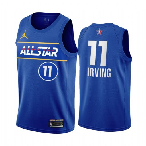 2021 All-Star Kyrie Irving Jersey Blue Eastern Conference Nets Uniform