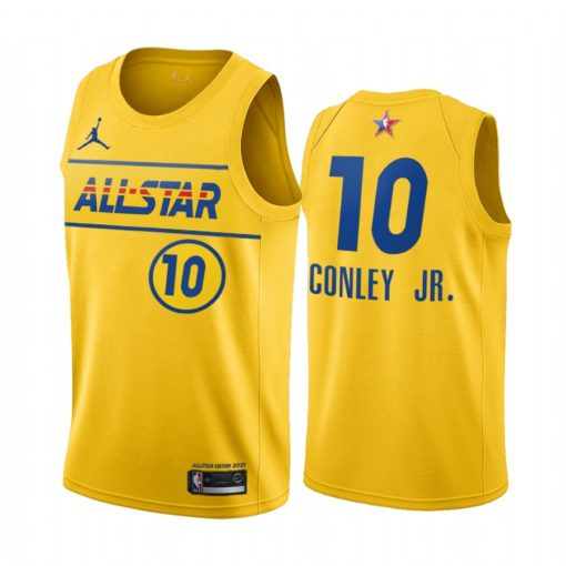 2021 All-Star Mike Conley Jr. Jersey Gold Western Conference Jazz Uniform